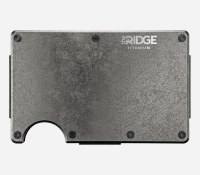 The Ridge Wallet Titanium Stonewashed