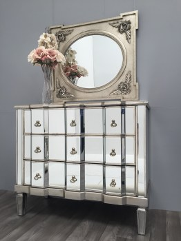Vintage Mirrored Chest of Drawers Large Size 3 Drawers