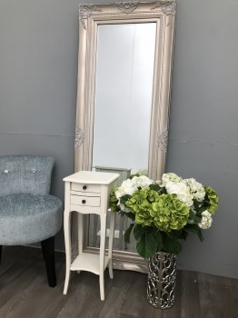 Small white bedside chest