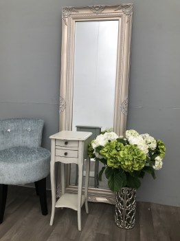 Pair Small grey bedside chest