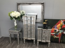 Charleston mirrored tall chest
