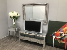 Charleston mirrored media unit