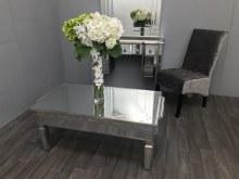 Mirrored Coffee Table - Vintage Silver Finish, Charleston
