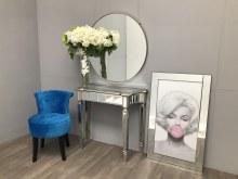 Slim Mirrored Console Table - Sleek Modern-Luxury Shape, Marbella