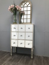 Mirrored Chest Of Drawers - 3 Drawer Luxury-Style Finish, Hollywood
