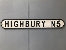 Highbury N3 Street Sign