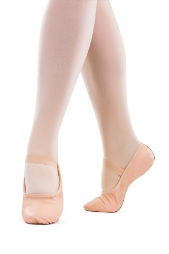 So Danca Pink Leather Full Sole Ballet Shoes SD69