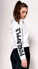 Crop Logo Hoodie White **50% OFF FOR A LIMITED TIME ONLY. WAS 50 NOW 25**