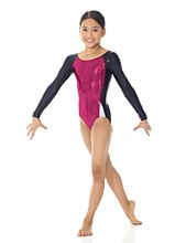 **SALE - WAS 55 NOW 15** Mondor Long Sleeves Metallic Leotard 4N - 7853