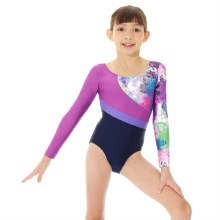 **SALE - WAS 60 NOW 15** Mondor Long Sleeved Abstract Leotard 7863
