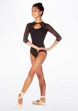 Long Sleeved Lace Leotard RDE1593 - Black