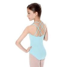 **SALE - WAS 35 NOW 20** Strappy back leotard Ocean Blue - E11107