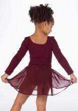 Girls Bloch Ballet Skirt - Burgundy