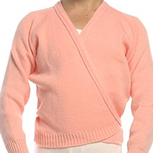 **SALE - WAS 20 NOW 10** Longsleeve Crossover Cardi Salmon