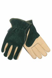 Kent and Stowe Mens Gloves Green/Tan