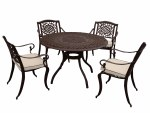 Borovale 4 Seater Bronze Set Round