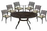 Borovale 6 Seater Bronze Set Round