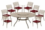 Borovale 8 Seater Oatmeal Set Round