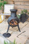 Chiminea Cast Iron Squat Black
