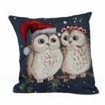Christmas Owls Cushion