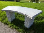 Eastern Rustic Curved Bench Be