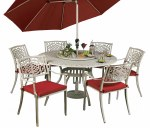 Borovale 6 Seater Oatmeal Set Round