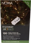 100 LED Fit & Forget Copper Wire Light Set - Warm White