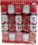 10 Family Santa and Reindeer Crackers