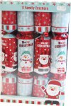 12 Family Santa and Snowman Crackers