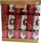 12 Luxury Poinsettia Crackers