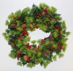 40cm Pine Cone and Berry Wreath