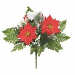 47cm Poinsettia Holy and Rose Bouquet