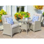 Toulon 70cm Table Set 2 seat