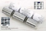 6 Premium Silver and White Crackers