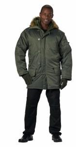 Coat - N3B Sage Nylon LG