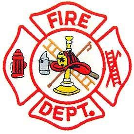 Ptch - FIRE,DEPT.LOGO(WHT/RED)