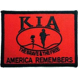Ptch - KIA,HONOR,FLAG,RED