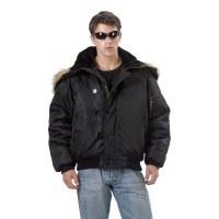 Coat - N2B Black Nylon  Med