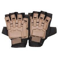 Glove - Armor 1/2Finger Tan SM