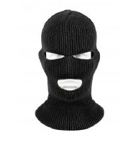 mask - blk knit3hole