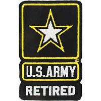 Ptch - ARMY LOGO,RETIRED