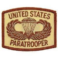 Ptch - ARMY,PARA,LOGO(Desert)