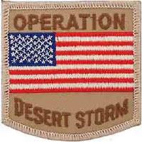 Ptch - DEST.STORM,USA FLAG