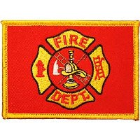 Ptch - FIRE,DEPT.Flag(RED/GLD)