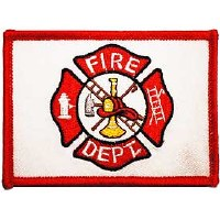 Ptch - FIRE,DEPT.FLAG.(RED/WHT