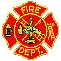 Ptch - FIRE,DEPT.LOGO(RED/GLD)