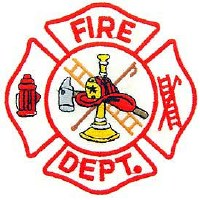 Ptch - FIRE,DEPT.LOGO(WHT/RED)