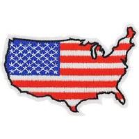 Ptch - FLAG,USA,MAP DESIGN