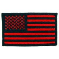 Ptch - FLAG,USA,RECT.BK/RD