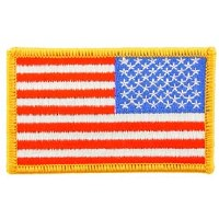 Ptch - FLAG USA,RECT,GOLD (RT)